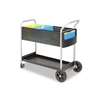 Safco Scoot Mail Cart, 1-Shelf, 300lbs, 22-1/2 x 39-1/2