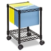 Safco Compact Mobile Wire File Cart, 1-Shelf, 300lbs, 1
