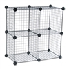 Safco Wire Cube Shelving System, 14w x 14d x 14h, Black
