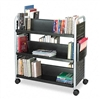Safco Scoot Book Cart, 6-Shelf, 40 x 17-1/2 x 41-1/2, B