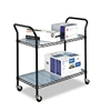 Safco Wire Utility Cart, 2-Shelf, 400lbs, 36 x 18 x 38,