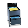 Safco Locking Mobile Tub File w/Drawer, Legal Size, Bla