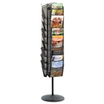 Safco Onyx Steel Mesh Rotating Magazine Display, 30 Poc