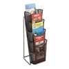 Safco Onyx Mesh One-Pocket Pamphlet Counter Display, Bl