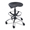 "Safco Sit-Star Stool w/Footring & Caster, 27""-36h Seat,"