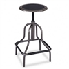 Safco Diesel Backless Industrial Stool, High Base, Blac