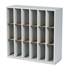 Safco Wood Mail Sorter w/Adjustable Dividers, Stackable