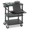 Safco Height Adjustable AV Cart, 4-Shelf, 85lbs, 27-1/2