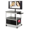 Safco Scoot Flat Panel Multimedia Cart, 3-Shelf, 39-1/2