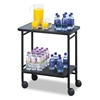Safco Folding Office/Beverage Cart, 2-Shelf, 26 x 15 x