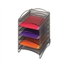 Safco Onyx Steel Mesh Lliterature Sorter, 6 Compartment
