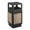Safco Canmeleon SIDEOpen Receptacle, Square, Aggregate/