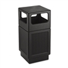 Safco Canmeleon SIDEOpen Receptacle, Square, Polyethyle