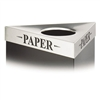 Safco Trifecta Waste Receptacle Lid, Laser Cut PAPER
