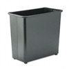 Safco Fire-Safe Wastebasket, Rectangular, Steel, 27 1/2