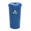 Safco Tall Recycling Receptacle for Cans, Round, Steel,