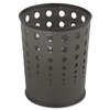 Safco Bubble Wastebasket, Round, Steel, 6 gal, Black #
