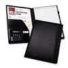 Samsill Pad Holder w/Calculator, Leather-Look/Faux Rept