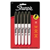 Sharpie Fine Tip Permanent Markers, Black, 5/Pack # SAN