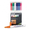 Sanford uni-Paint Markers, Fine Point, Assorted, 12/Set