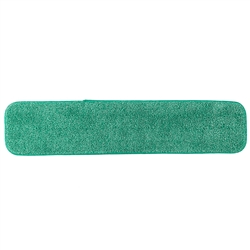 "Microfiber 18"" Low Nap Green Velcro Floor Cleaning Mop Head SAVE18GRE"