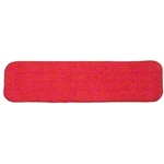"Microfiber 18"" Low Nap Red Velcro Floor Cleaning Mop Head SAVE18RED"