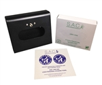 S.A.C. Total Solution Starter Set - Sanitary Napkin & Tampon Disposal, Box Format, Black Powder Coated Steel - Contains 1 Set  #  SB3000BK