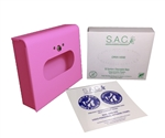 S.A.C. Total Solution Starter Set - Sanitary Napkin & Tampon Disposal, Box Format, Pink Powder Coated Steel - Contains 1 Set  #  SB3000PK