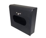 Dispenser for S.A.C. Sanitary Napkin & Tampon Disposal Bags, Black Powder Coated Steel- Box Format, 1 Unit  # SD2012BBK