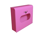 Dispenser for S.A.C. Sanitary Napkin & Tampon Disposal Bags, Pink Powder Coated Steel- Box Format, 1 Unit # SD2012BPK