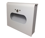 Dispenser for S.A.C. Sanitary Napkin & Tampon Disposal Bags, White Coated Steel- Box Format, 1 Unit  # SD2012BWH