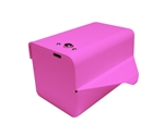 Dispenser for S.A.C. Sanitary Napkin & Tampon Disposal Bags, Pink Powder Coated Steel- Roll Format - 1 Unit # SD2012RPK