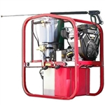 Hot2Go Gas Hot Water Pressure Washer Trailer Package 4000 PSI 3.5 GPM Honda SK40004HH