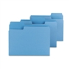 Smead SuperTab Colored File Folders, 1/3 Cut, Letter, B
