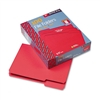 Smead File Folders, 1/3 Cut, Top Tab, Letter, Red, 100/