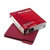 Smead File Folders, 1/3 Cut, Top Tab, Letter, Maroon, 1