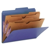 Smead Pressboard Classification Folders, 2 Pocket Divid