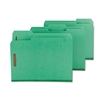 Smead Colored Pressboard Fastener Folders, Letter, 1/3