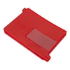 Smead End Tab Out Guides w/Pockets, Vinyl, Letter, Red,