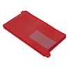 Smead End Tab Out Guides w/Pockets, Vinyl, Legal, Red,