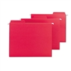 Smead FasTab Hanging File Folders, Letter, Red, 18/Box