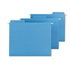 Smead FasTab Hanging File Folders, Letter, Blue, 18/Box