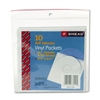 Smead Self-Adhesive Vinyl CD/Diskette Pockets w/Nonglar