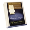 Southworth Colors + Textures Fine Granite Paper, Ivory,
