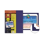 Southworth Certificate Holder, 12 x 9 1/2, Navy, 10/Pac