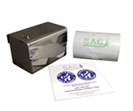 S.A.C. Total Solution Starter Set - Sanitary Napkin & Tampon Disposal, Roll Format, Stainless Steel - Contains 1 Set # SR3000SS