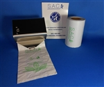 S.A.C. Total Solution Starter Set - Sanitary napkin & tampon disposal, roll format in stainless steel - Contains 1 set