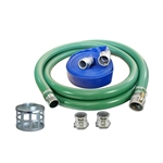 "Stanley 4"" Trash Quick Connect Water Pump Hose Kit with all accessories Professional Grade"