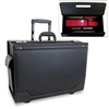 STEBCO Wheeled Catalog Case, Leather-Trimmed Tufide, 21