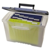 Storex Portable File Box w/ Organizer Lid, Letter/Legal